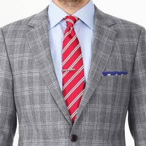 Grey Check Wool & Linen Suit - thumbnail image 2