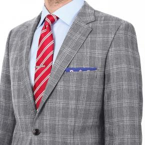 Grey Check Wool & Linen Suit - thumbnail image 3