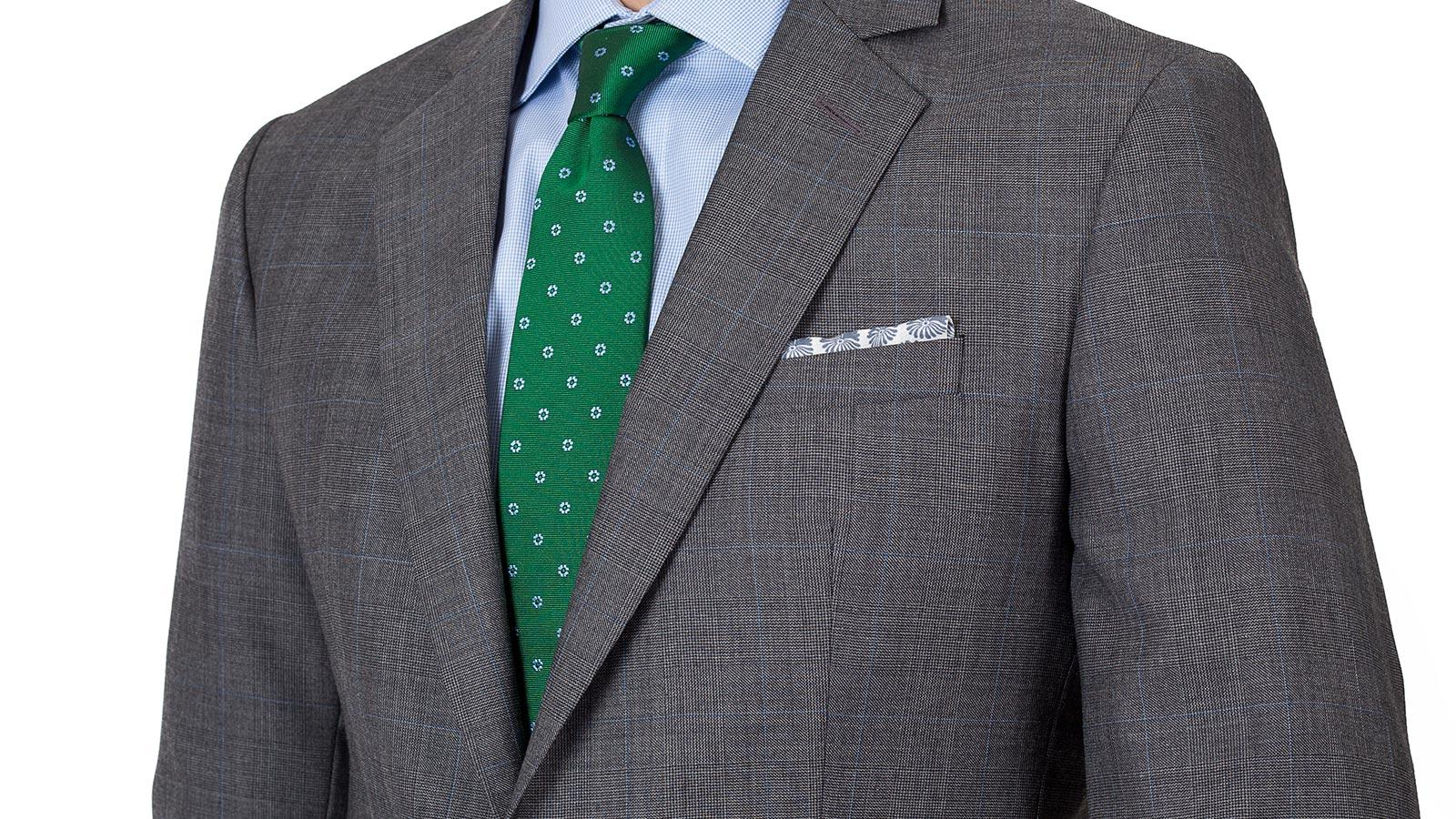 Grey Plaid Suit - slider image 1