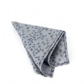 Light Blue Pocket Square With A Dandelion Pattern - thumbnail image 1