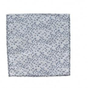 Light Blue Pocket Square With A Dandelion Pattern - thumbnail image 2