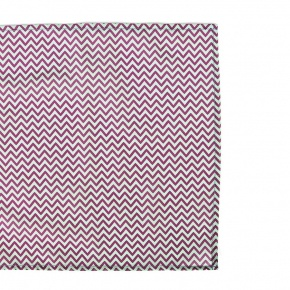 Pink & Green Chevron Patterned Pocket Square - thumbnail image 2