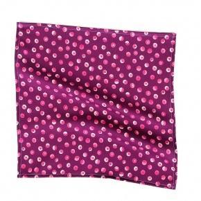 Pink & Purple Patterned Cotton Pocket Square - thumbnail image 1