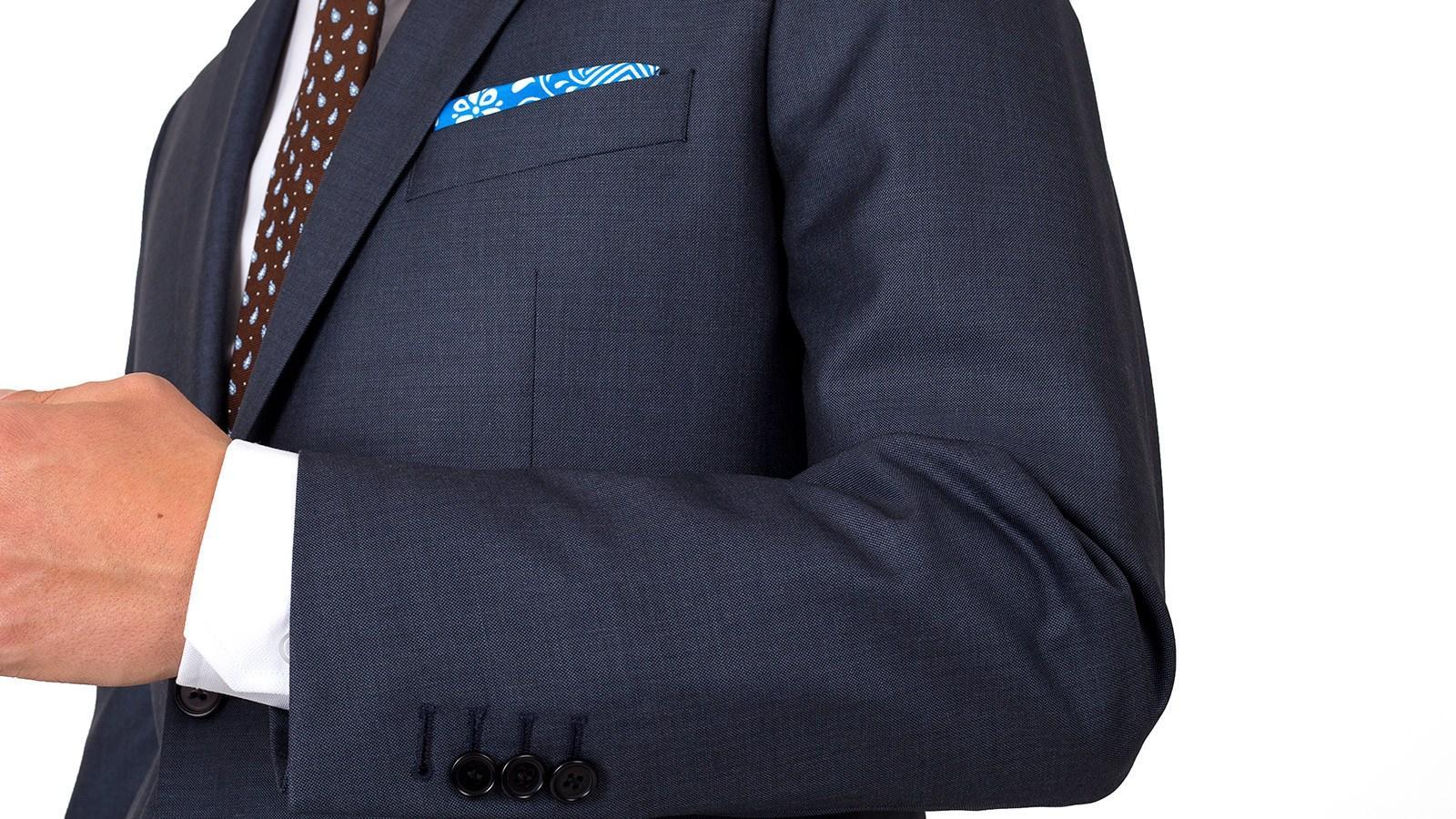 Premium Charcoal Blue Suit - slider image 1