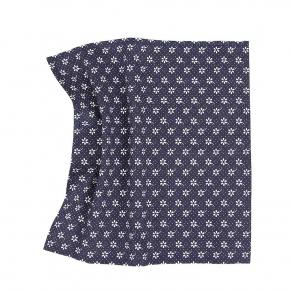 Blue Floral Cotton Pocket Square - thumbnail image 1