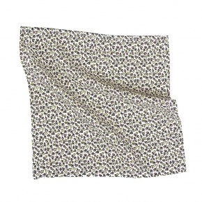 Ecru Patterned Pocket Square - thumbnail image 1