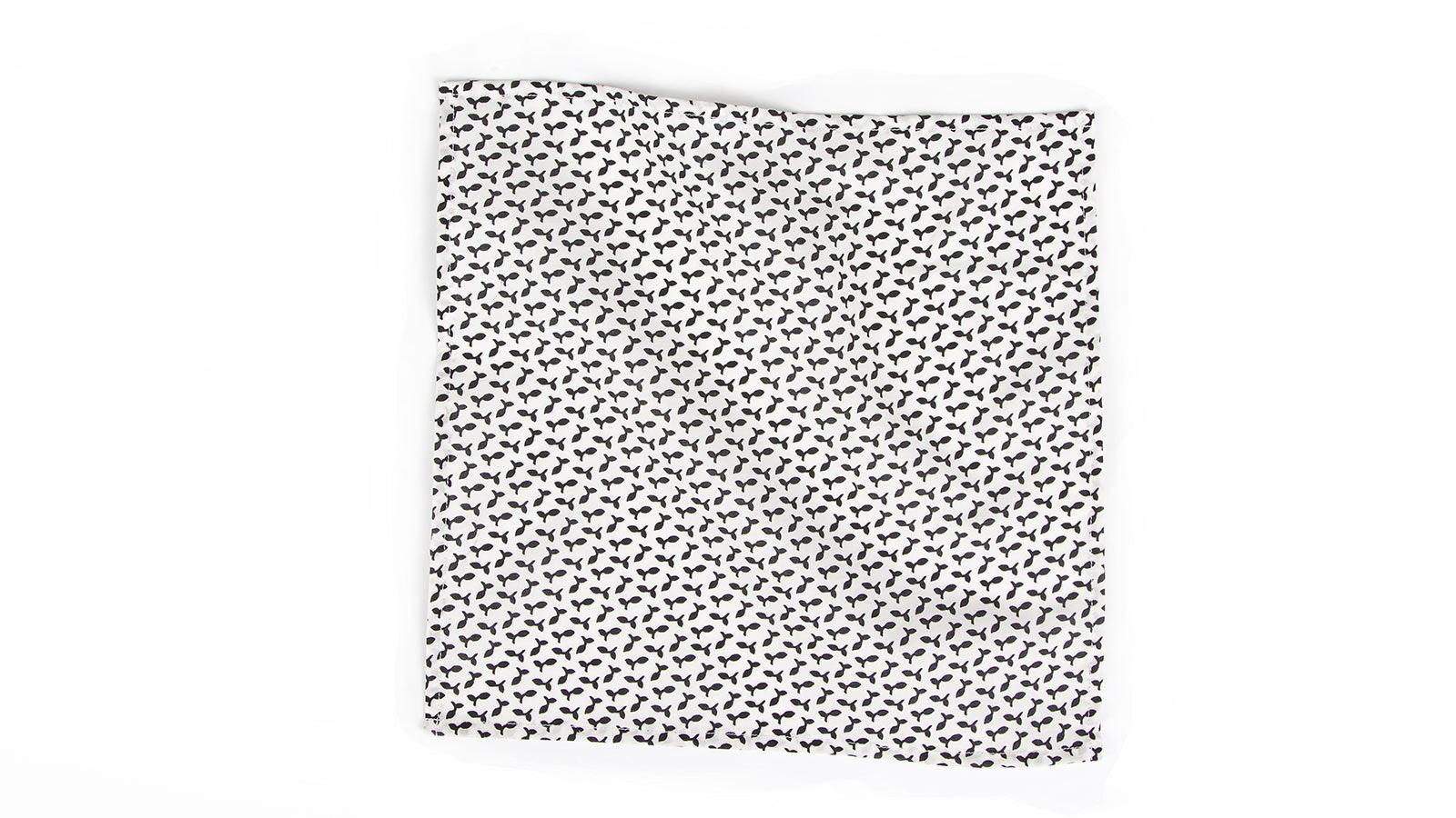 Black and White Patterned Pocket Square - slider image