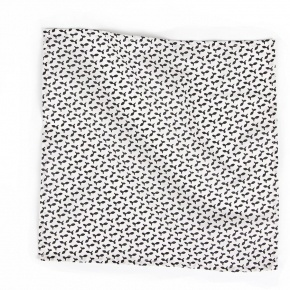 Black and White Patterned Pocket Square - thumbnail image 1