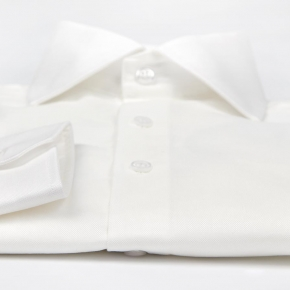 Ivory Cotton Royal Oxford Shirt - thumbnail image 2