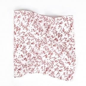White and Red Cotton Pocket Square - thumbnail image 1
