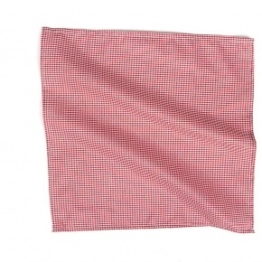 Red Gingham Cotton Pocket Square - thumbnail image 1