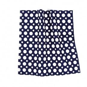 Blue Dots Cotton Pocket Square - thumbnail image 1