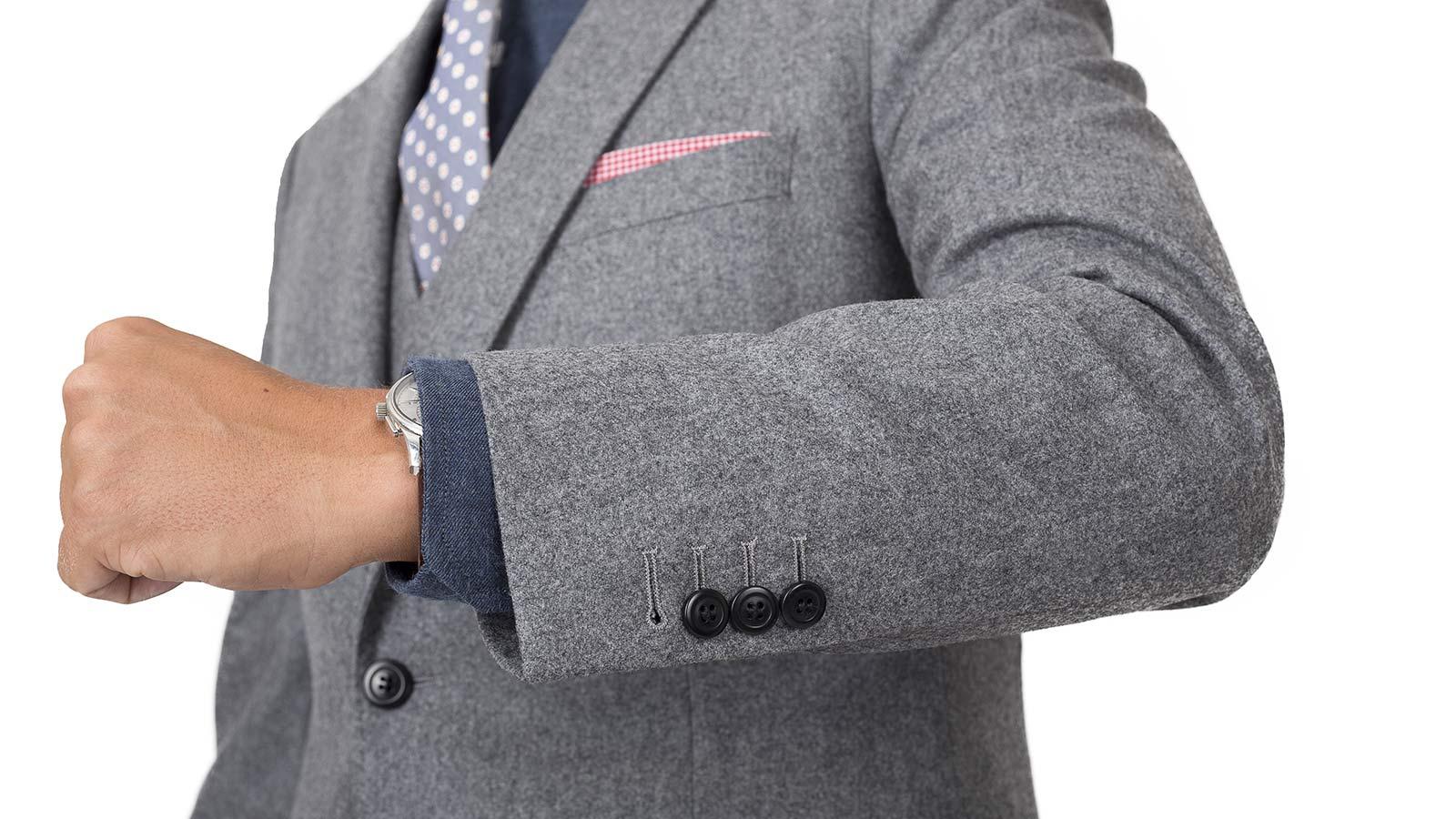 Grey Wool Flannel Suit - slider image 1