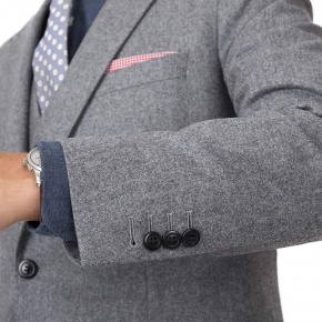 Grey Wool Flannel Suit - thumbnail image 1