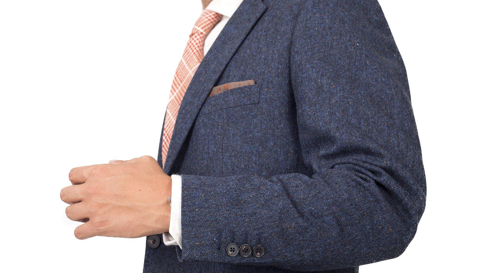 Blue Donegal Tweed Suit - slider image 1