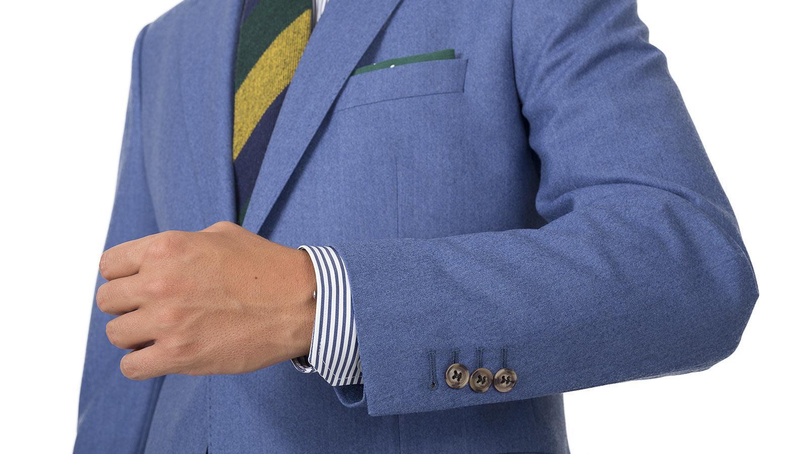 Sky Blue Flannel Suit - slider image 1