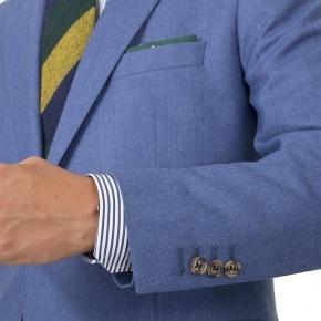 Sky Blue Flannel Suit - thumbnail image 1