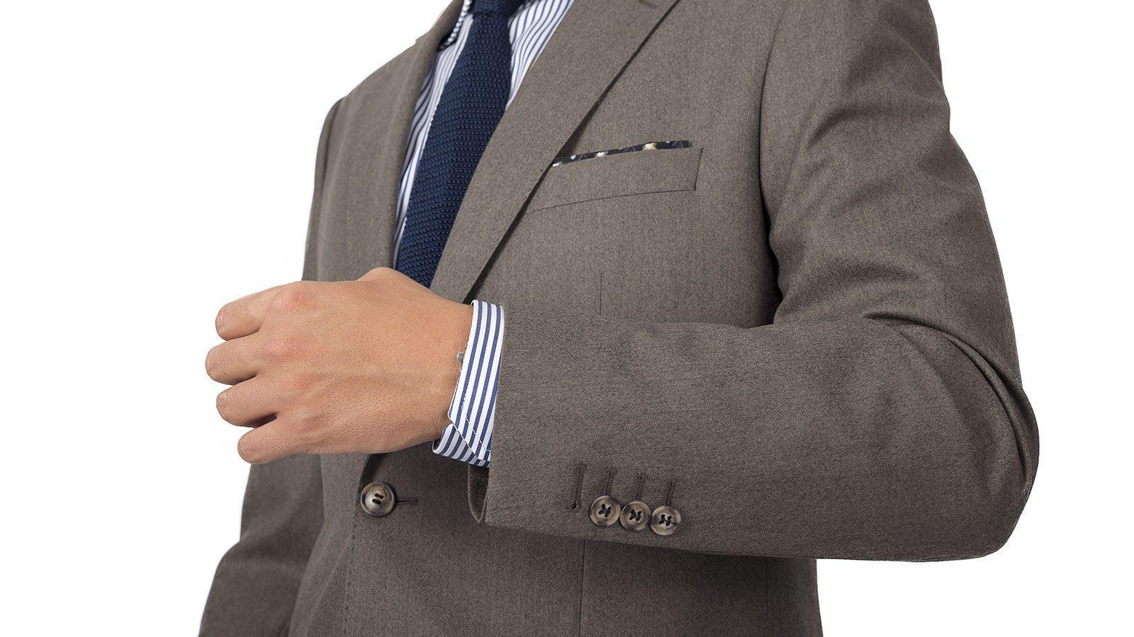 Light Brown Wool Flannel Suit - slider image