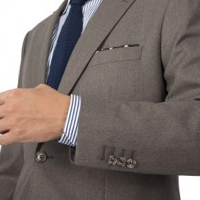 Light Brown Wool Flannel Suit - thumbnail image 1