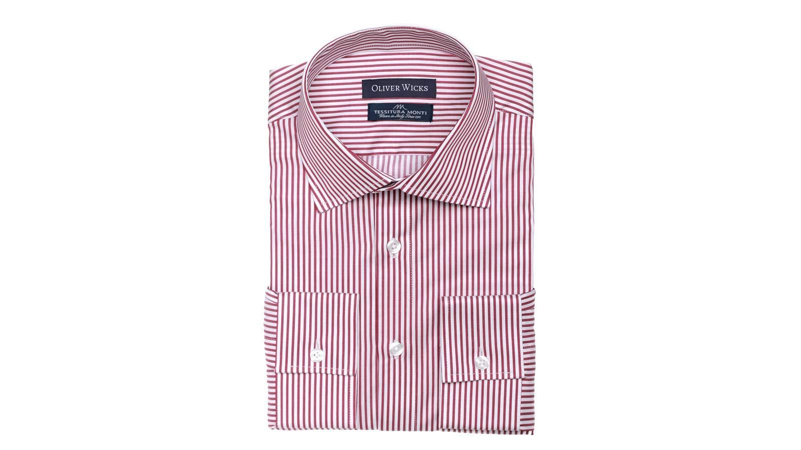 Men's Style Pro Red Striped Shirt - slider image 1