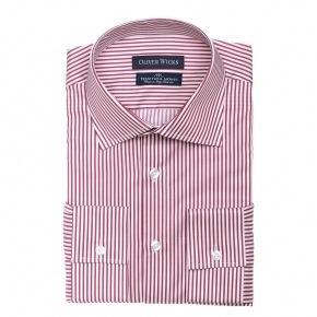 Men's Style Pro Red Striped Shirt - thumbnail image 1
