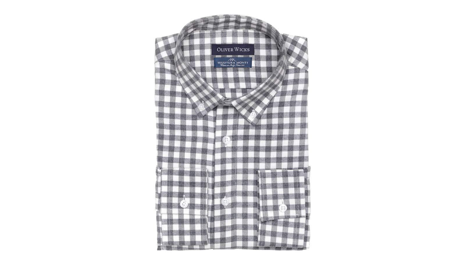 Men's Style Pro Grey Check Shirt - slider image 1