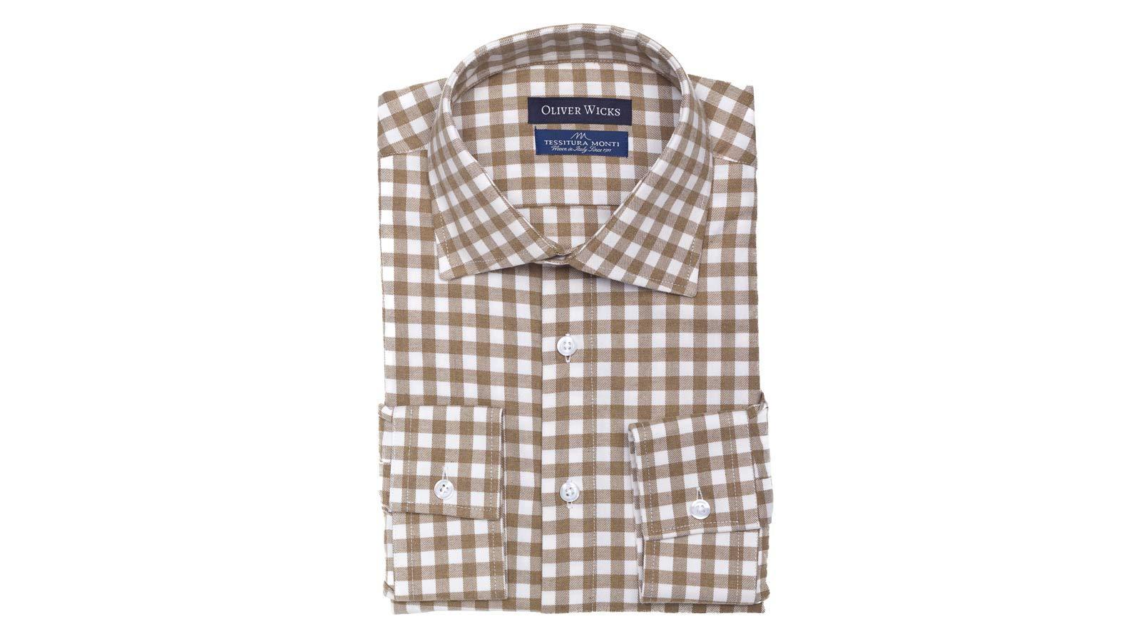 Brown Check Flannel Shirt - slider image