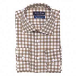 Brown Check Flannel Shirt - thumbnail image 1