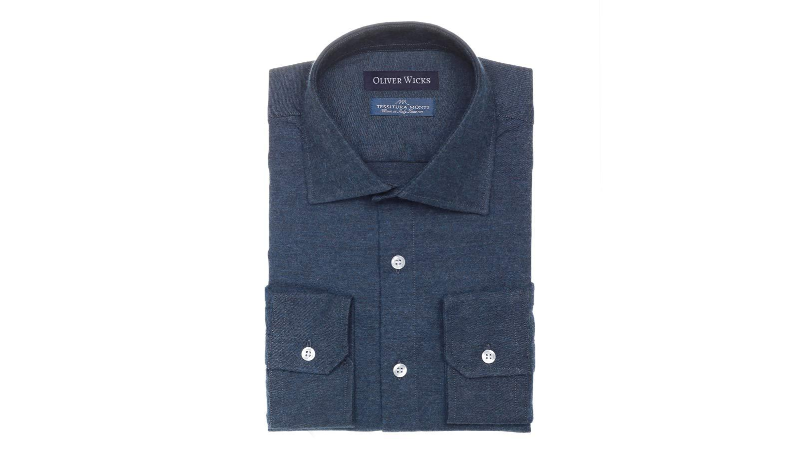 Men's Style Pro Navy Flannel Shirt - slider image