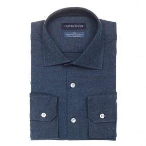 Men's Style Pro Navy Flannel Shirt - thumbnail image 1