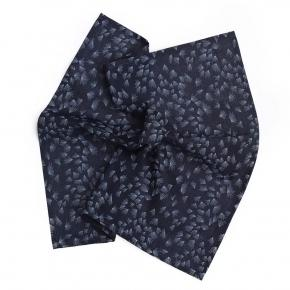 Navy Pocket Square With A Dandelion Pattern - thumbnail image 1