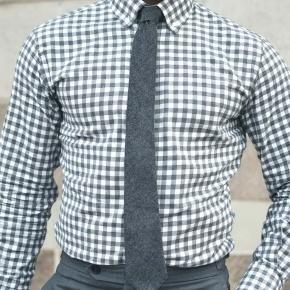 Men's Style Pro Grey Check Shirt - thumbnail image 3