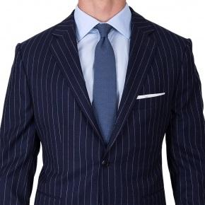 Navy Chalk Stripe Suit - thumbnail image 2
