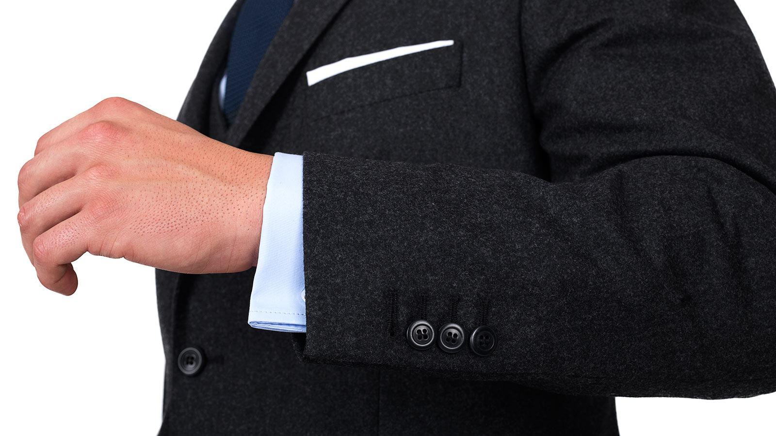 Charcoal Wool Flannel Suit - slider image 1