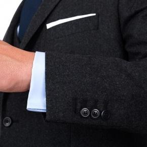 Charcoal Wool Flannel Suit - thumbnail image 1