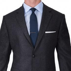 Charcoal Wool Flannel Suit - thumbnail image 2