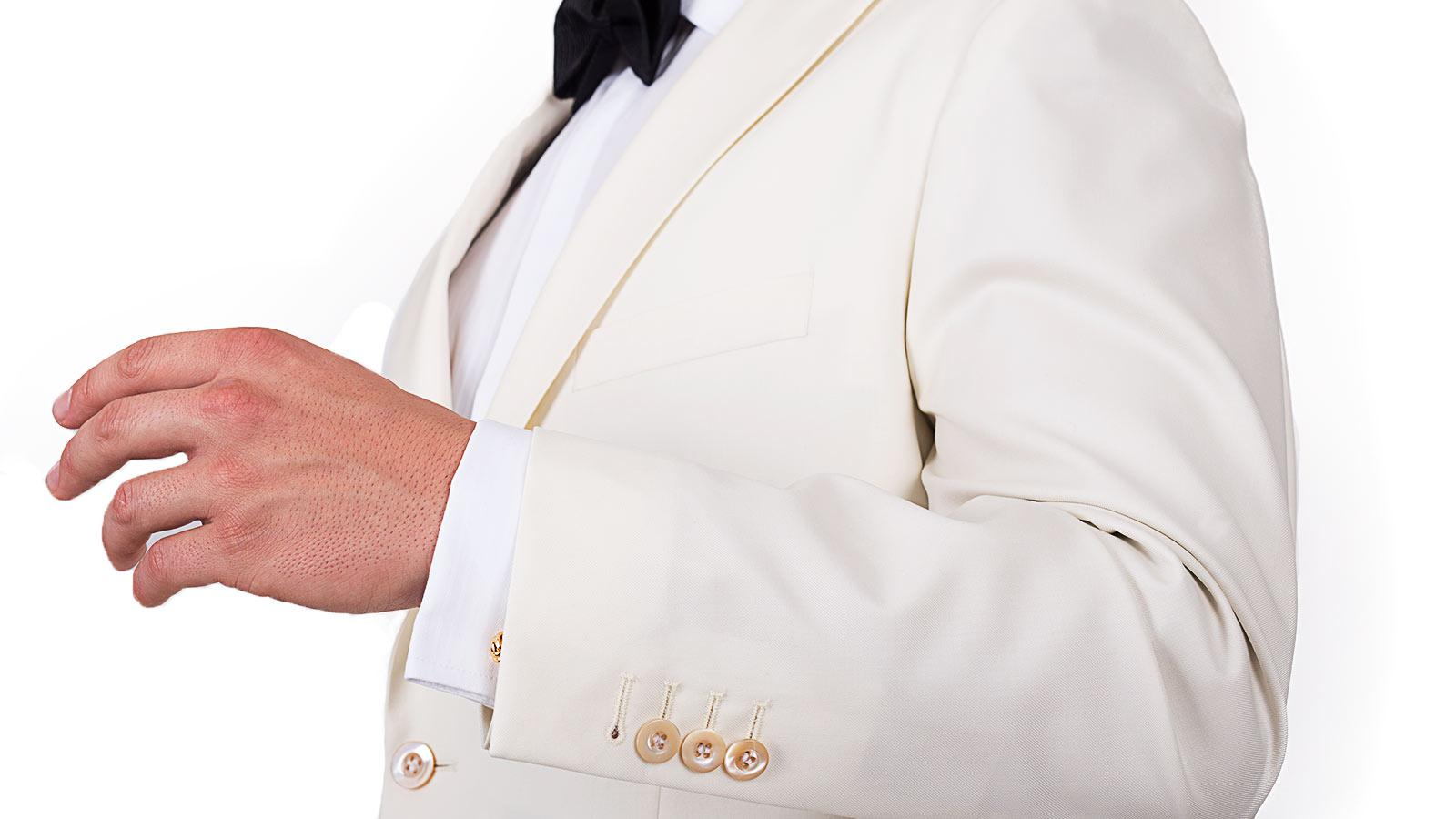 Ivory Dinner Jacket & Dress Pants - slider image 1