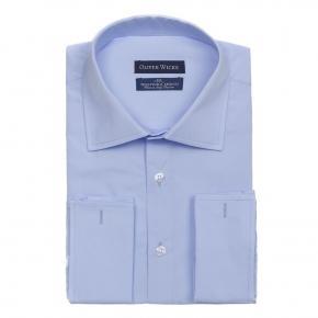 Light Blue Poplin Shirt - thumbnail image 1