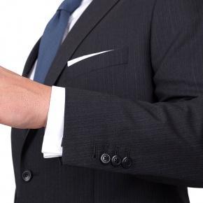 Premium Grey Track Stripe Suit - thumbnail image 1