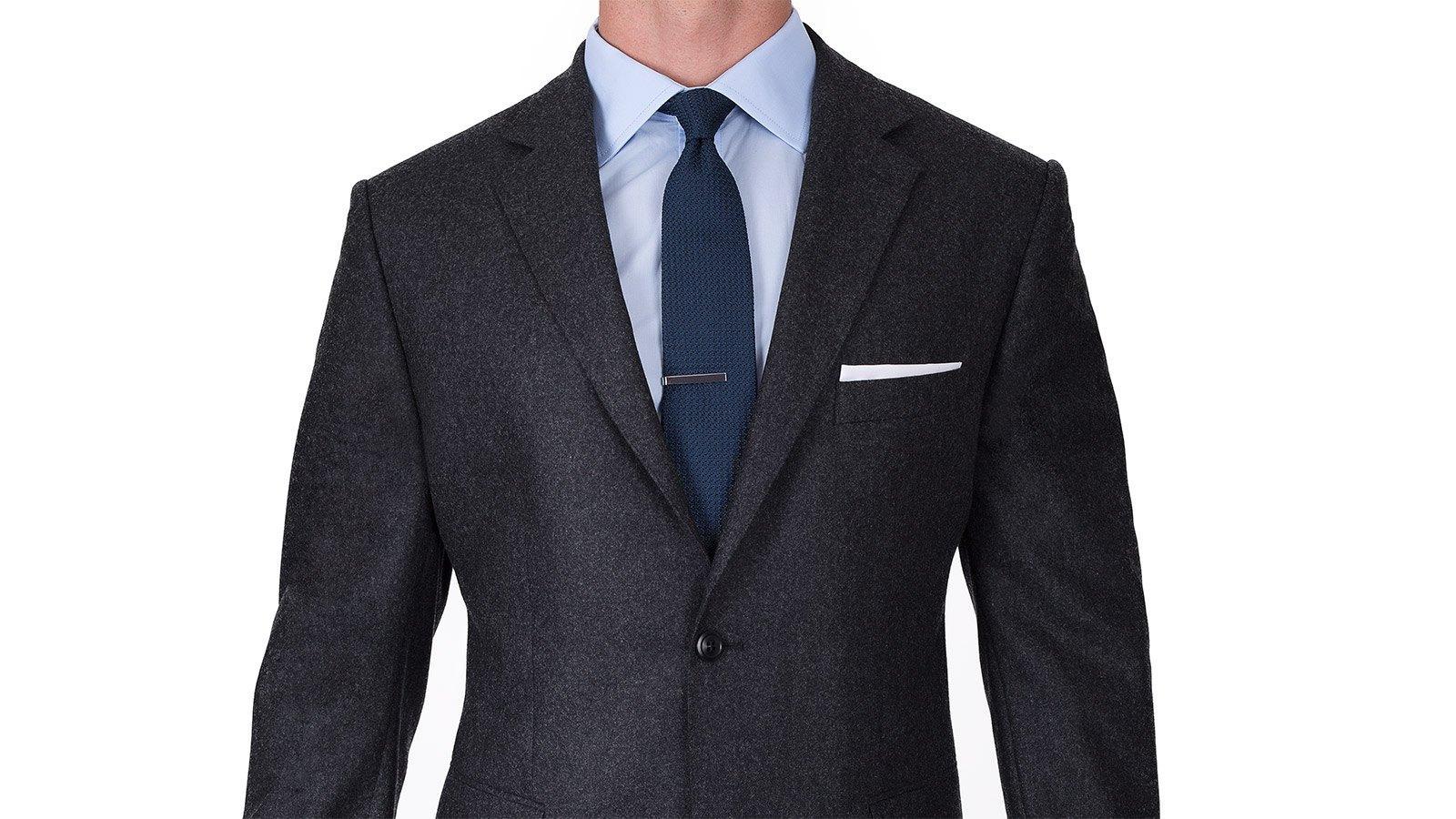 Charcoal Flannel 3 Piece Suit - slider image 1