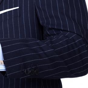 Navy Chalk Stripe 3 Piece Suit - thumbnail image 1