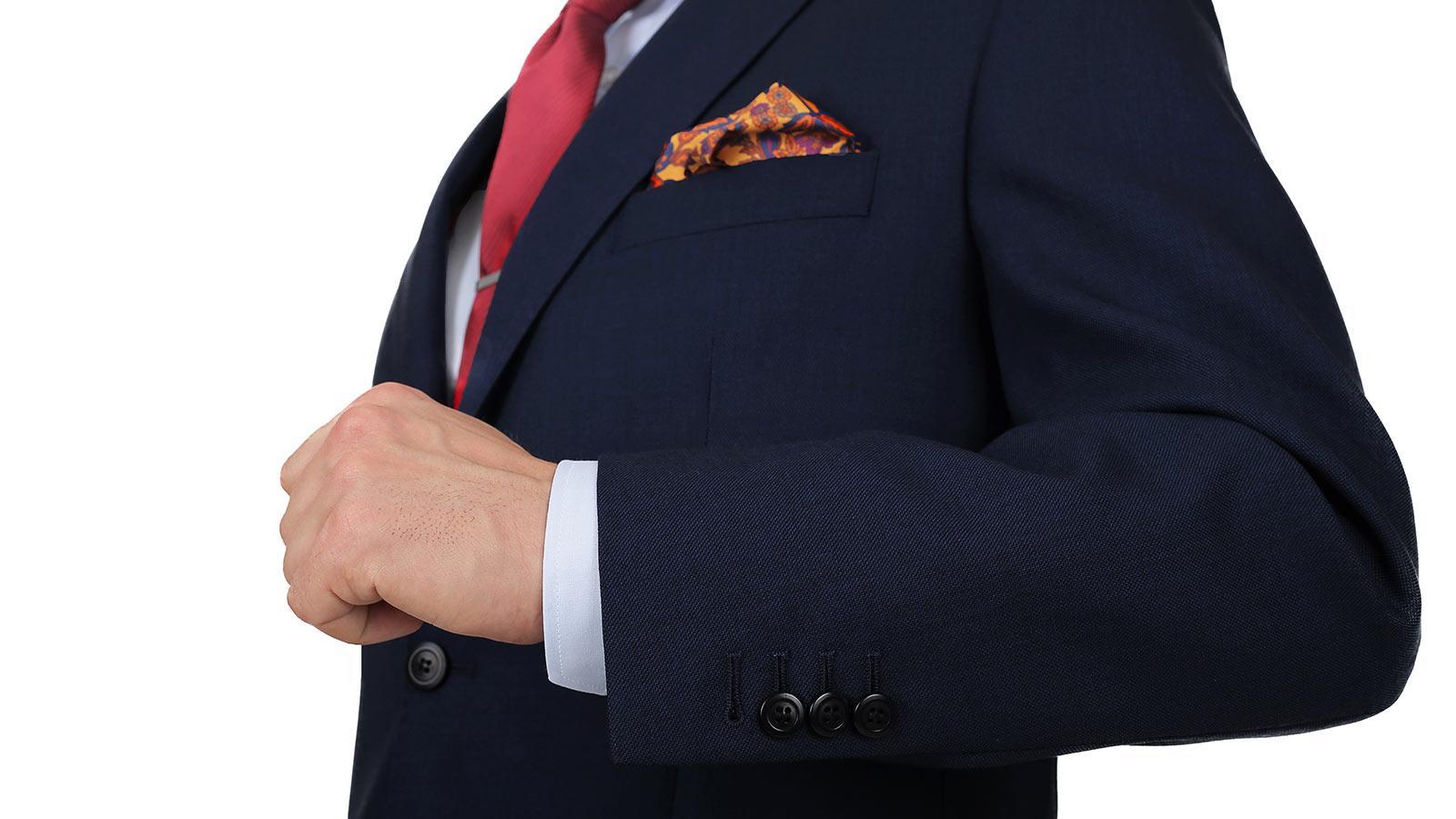 Blue Sharkskin Suit - slider image 1