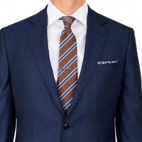 Premium Navy & Blue Plaid Suit - thumbnail image 2
