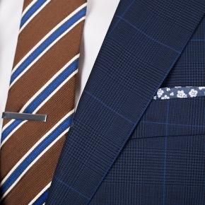 Premium Navy & Blue Plaid Suit - thumbnail image 3