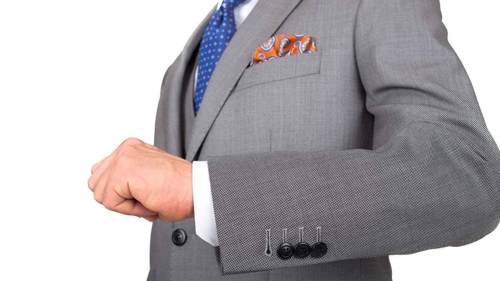 Premium Grey Birdseye Suit - slider image 1