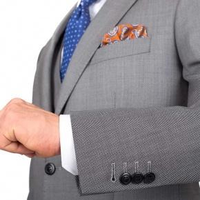 Premium Grey Birdseye Suit - thumbnail image 1