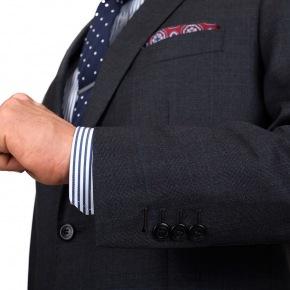 Premium Charcoal Plaid Suit - thumbnail image 1
