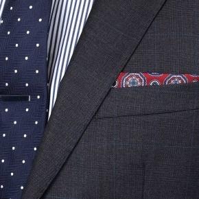 Premium Charcoal Plaid Suit - thumbnail image 3