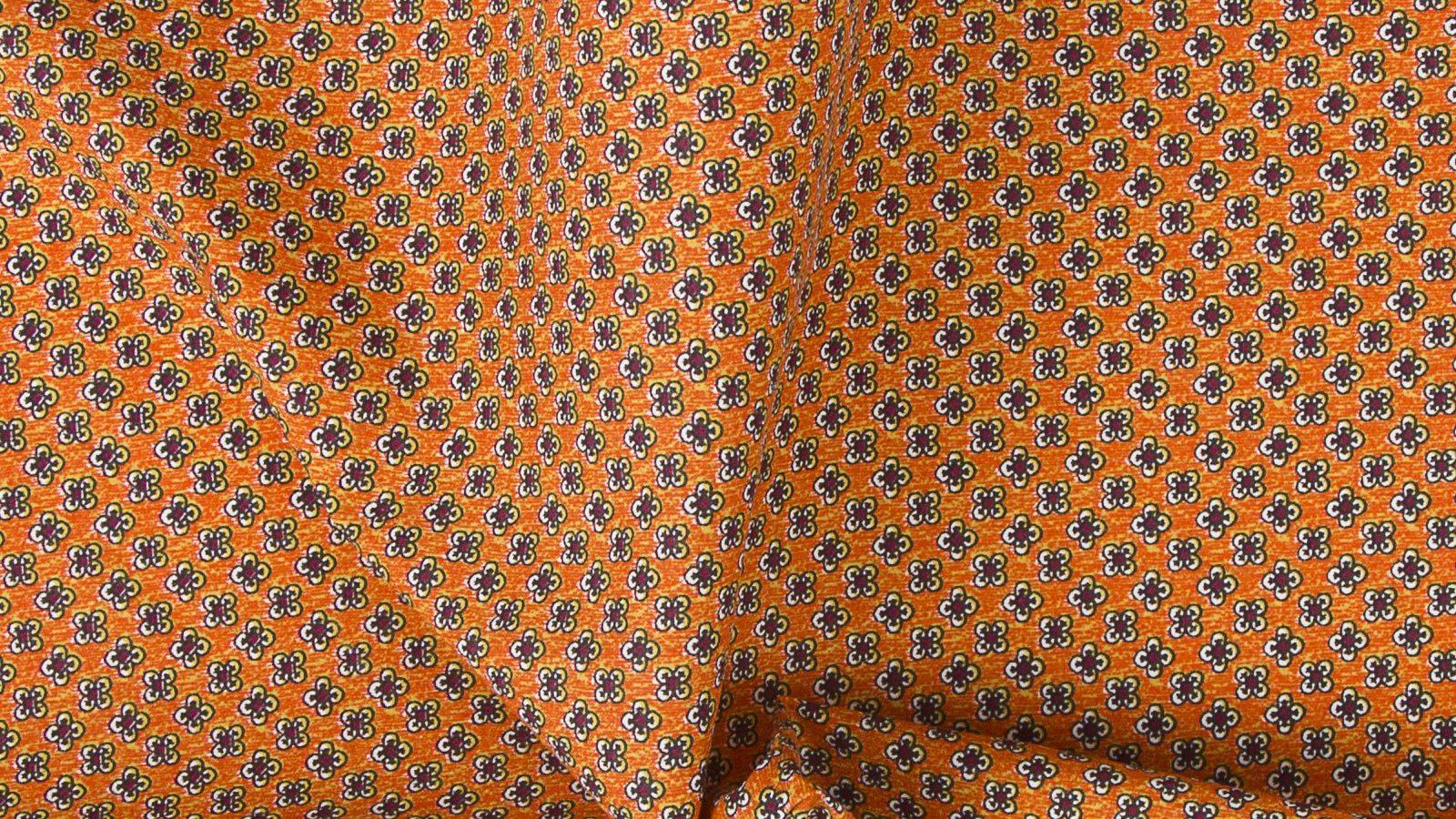 Orange Cotton Pocket Square - slider image