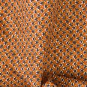 Orange Cotton Pocket Square - thumbnail image 1